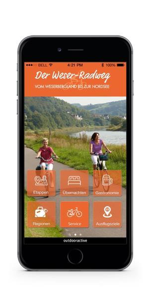 Touren-App für den Weser-Radweg