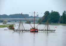 Aalfänger auf der Weser