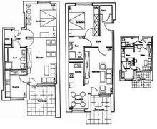 Grundriss für einen Bauantrag